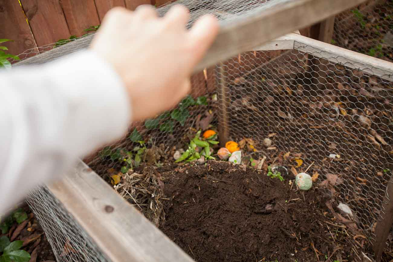 Compost bin designed by Dave's Organic Gardening, using permaculture garden design in Santa Barbara, CA.